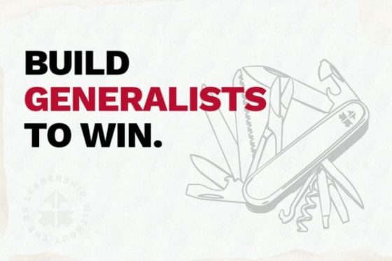 Build Generalists to Win